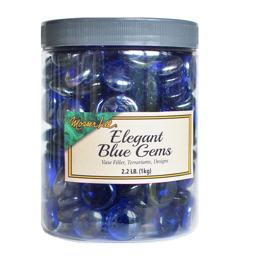 2.2 lb. Elegant Blue Gems in Storage Jar