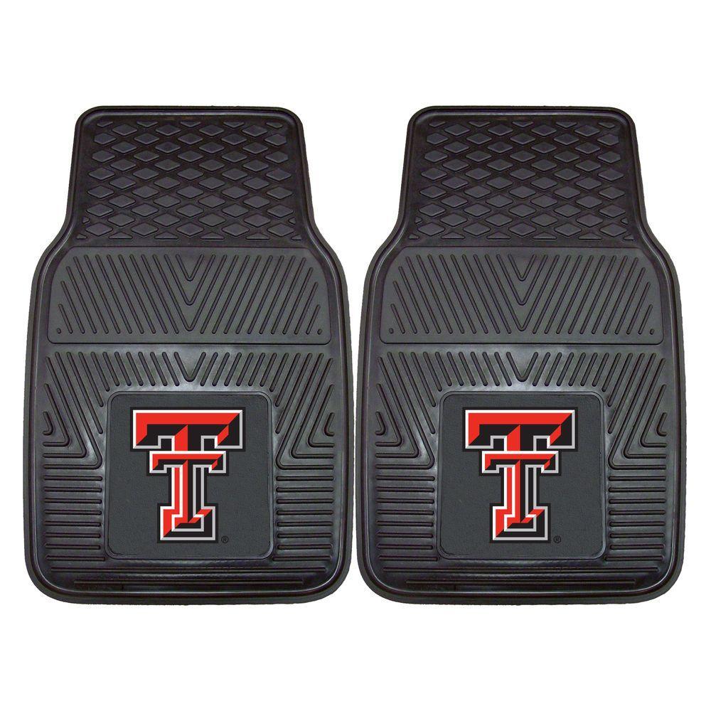 FANMATS Texas Tech University 18 in. x 27 in. 2-Piece Heavy Duty Vinyl Car Mat