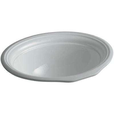 Devonshire Vitreous China Undermount Bathroom Sink in Ice Gray with Overflow Drain