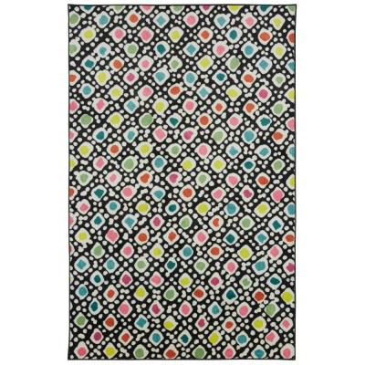 Mohawk Home Bettina Multi 5 ft. x 8 ft. Abstract Area Rug, Black & Pink