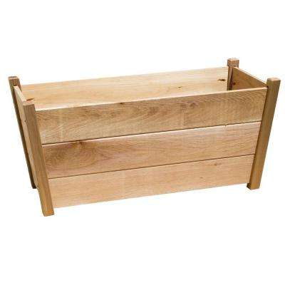 35.5 in. x 15.75 in. Natural Cedar Alta Rectangular Planter