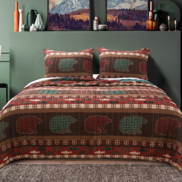 Greenland Home Fashions Canyon Creek 3-Piece King Quilt Set GL-1805KMSK