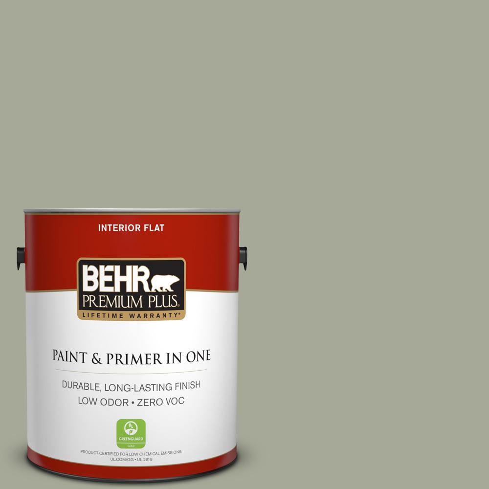 1 gal. #PPU10-16 Simply Sage Zero VOC Flat Interior Paint