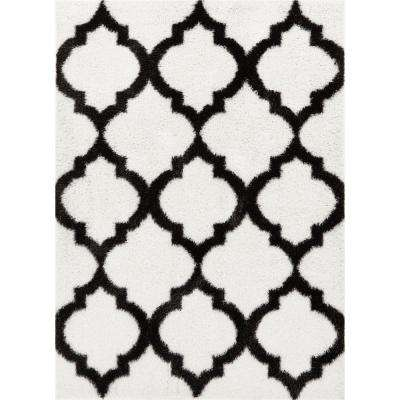 Corsa Humble White 7 ft. x 9 ft. Modern Lattice Moroccan Soft Area Rug
