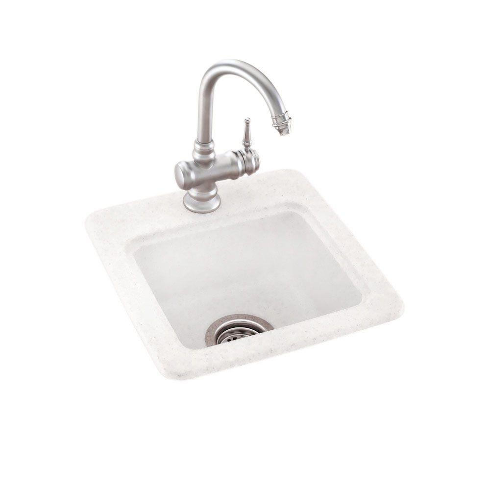 Drop In Undermount Solid Surface 15 1 Hole Single Bowl Bar