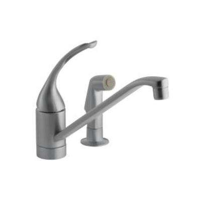 Coralais Single-Handle Pull-Out Side Sprayer Kitchen Faucet in Brushed Chrome