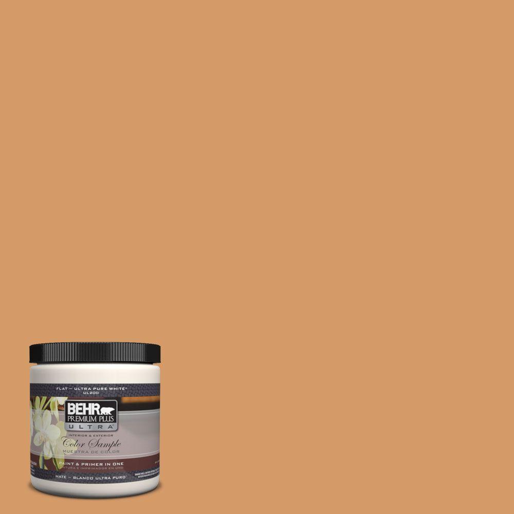BEHR Premium Plus Ultra 8 oz. #PPH-17 Sweet Caramel Interior/Exterior Paint Sample