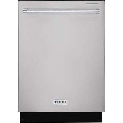24 in. Built-In Top Control Dishwasher in Stainless Steel, 45 dBA
