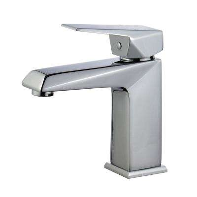 Valencia Single Hole Single-Handle Bathroom Faucet with Overflow Drain in Polished Chrome