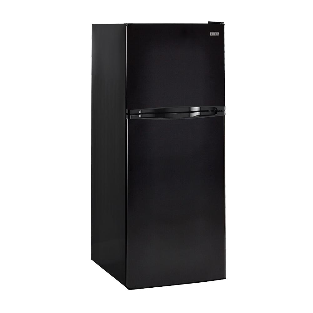 Haier 9.8 cu. ft. Top Freezer Refrigerator in Black