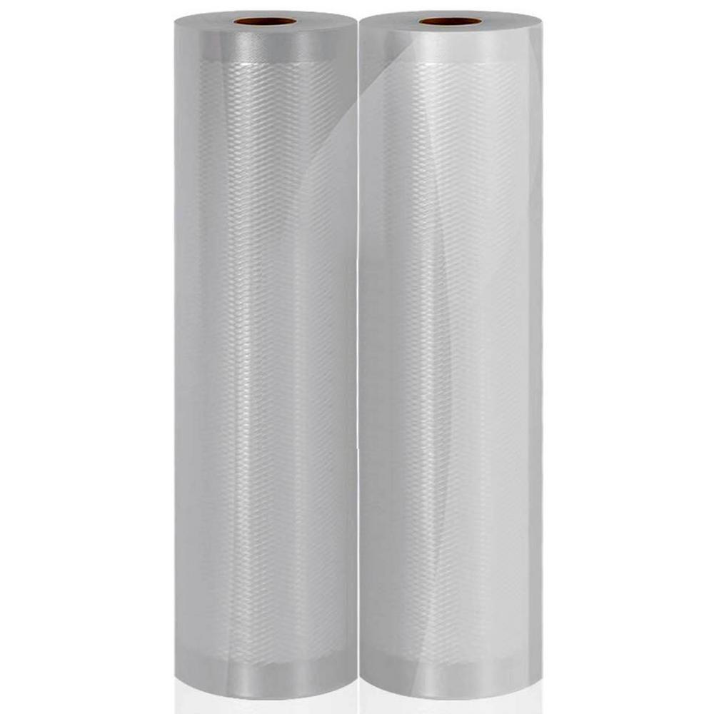 Vacuum Sealer Bags - Clear Universal Air Vac Sealing Bags (2-Rolls, 100 ft. Total Length)