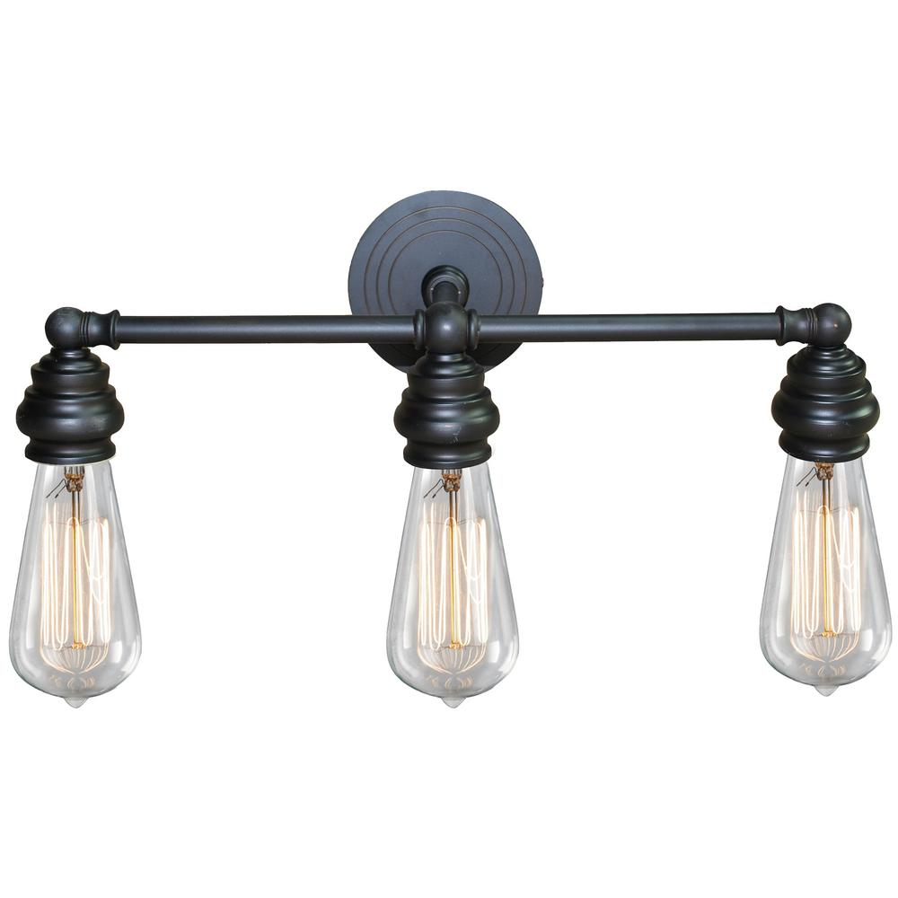 oil rubbed bronze bathroom light y decor 3 light rubbed bronze bath light 23875