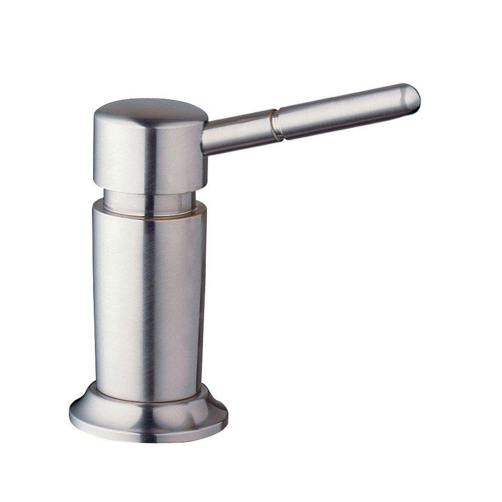 Deluxe XL Countertop-Mount Soap Dispenser in Stainless-Steel