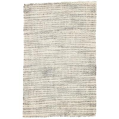 Alcot Hand Woven White Black 2 Ft X 3 Ft Solid Area Rug Rkg138256 The Home Depot