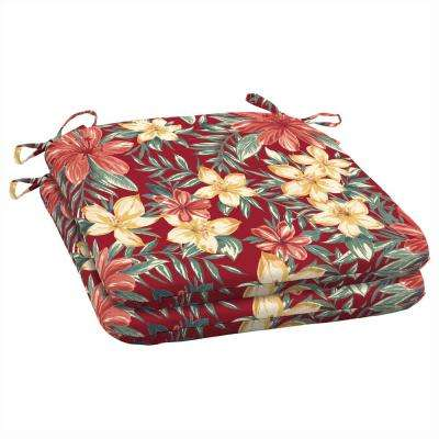 Ruby Clarissa Tropical Outdoor Seat Cushion (Pack of 2)