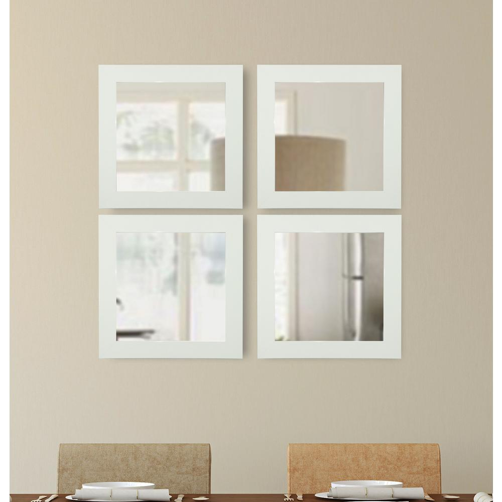 Delta White Square Vanity Mirror Set Of 4