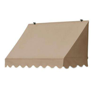 4 ft. Traditional Awnings in a Box Replacement Cover in Sand