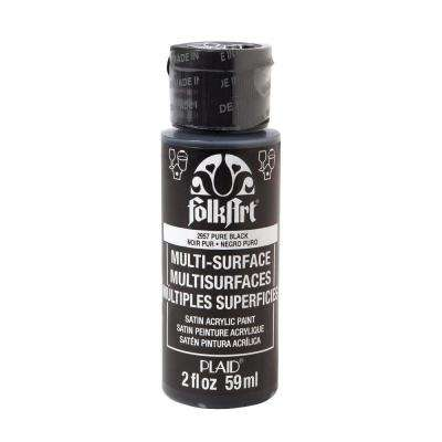 2 oz. Pure Black Multi Surface Paint