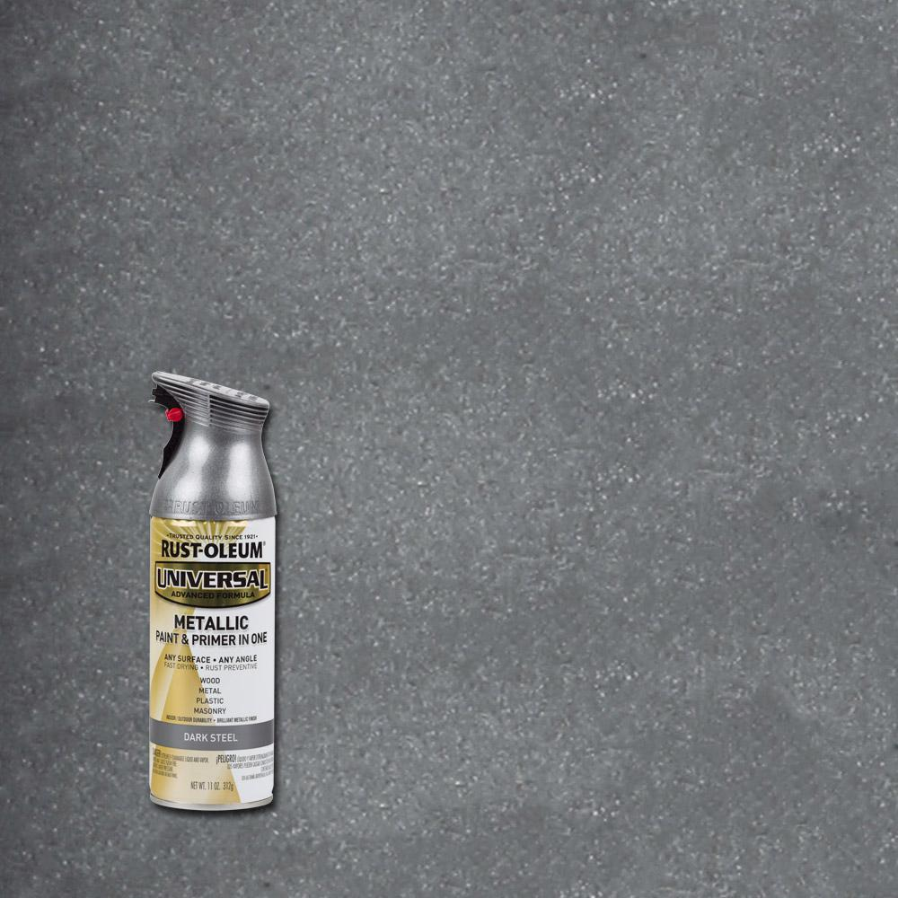 Rust-Oleum Universal 11 oz  All Surface Metallic Dark Steel Spray Paint and  Primer in One