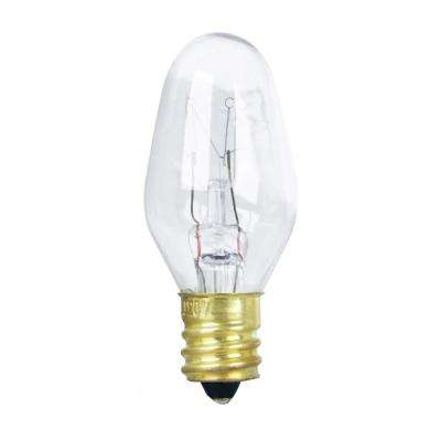 7-Watt Equivalant C7 2700K Clear Incandescent E12 Night Light Bulb (4-Pack)