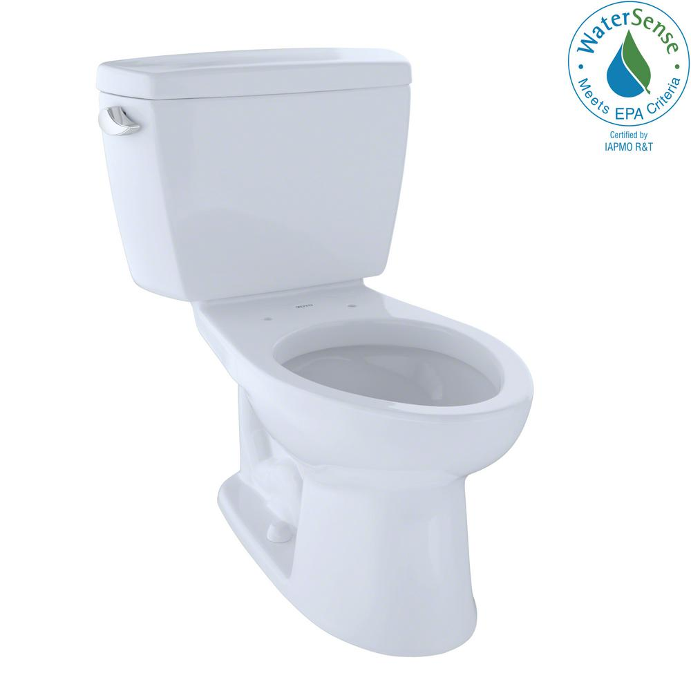 TOTO Eco Drake 2-Piece 1.28 GPF Single Flush Elongated Toilet with ...