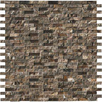 Brown - Wall - Mosaic Tile - Tile - The Home Depot