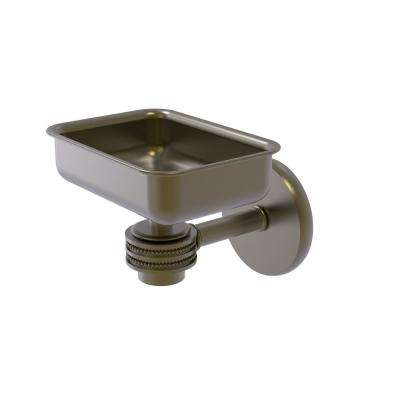 Satellite Orbit One Wall Mounted Soap Dish with Dotted Accents in Antique Brass