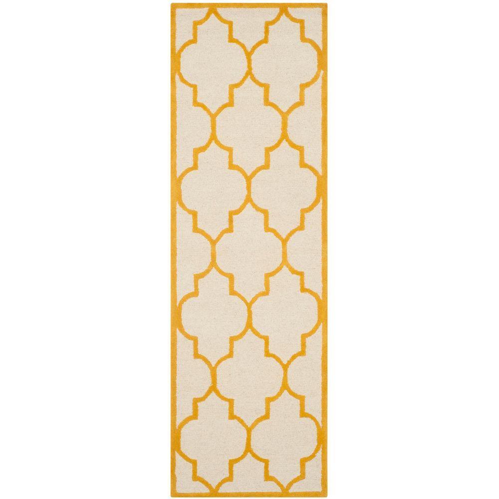 Cambridge Ivory/Gold 2 ft. 6 in. x 8 ft. Runner