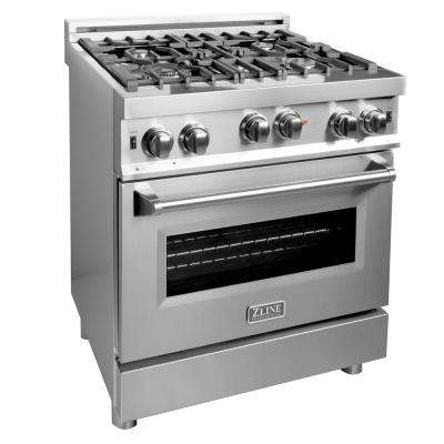 30 in. Professional 4.0 cu. ft. 4 Gas on Gas Range in Stainless Steel