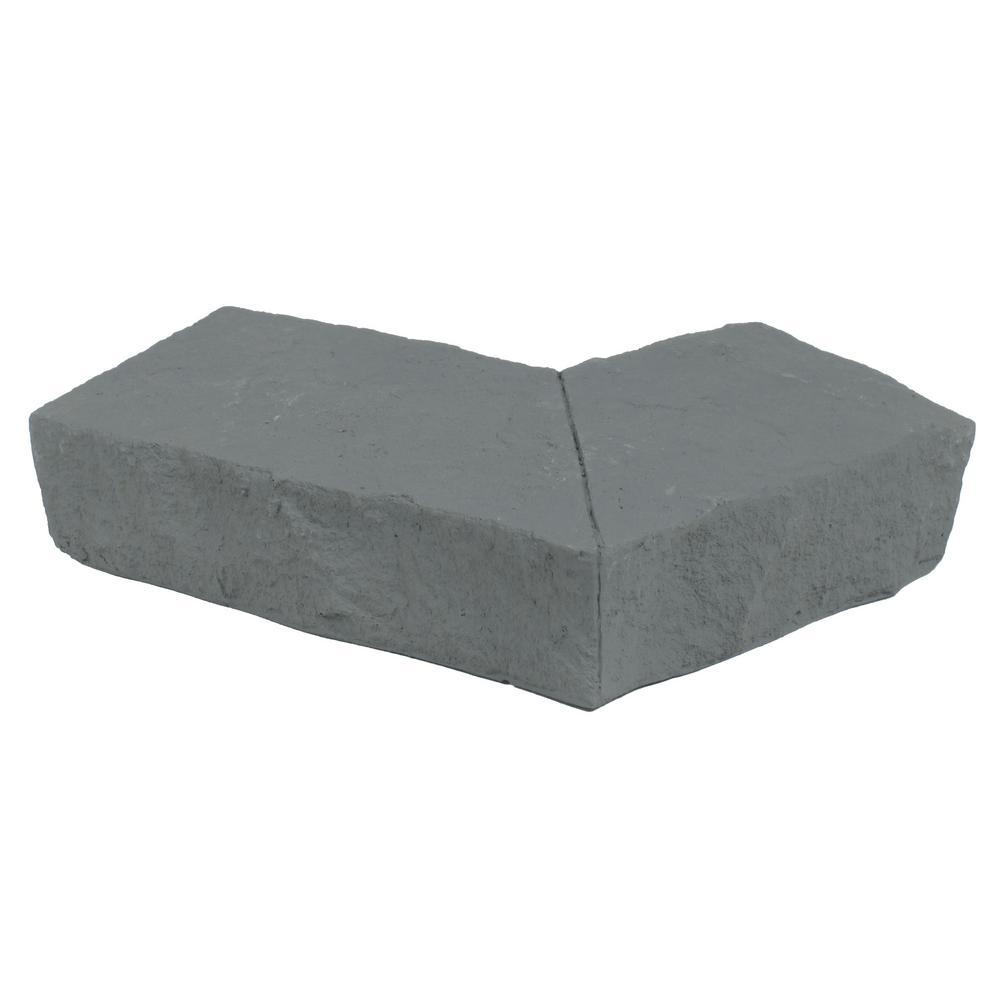 Sandstone Graphite 6.25 in. x 4.25 in. Faux Stone Ledger Outside Corner (2-Pack)