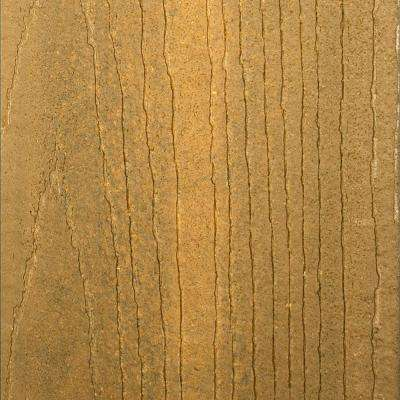 Infuse 1 in. x 5-3/8 in. x 1/2 ft. Northern Hickory Composite Decking Board Sample