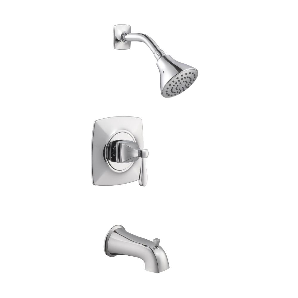 Milner Pressure Balanced Single-Handle 1-Spray Tub and Shower Faucet in Chrome