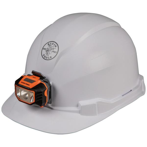 Hard Hat, Non-Vented, Cap Style with Headlamp
