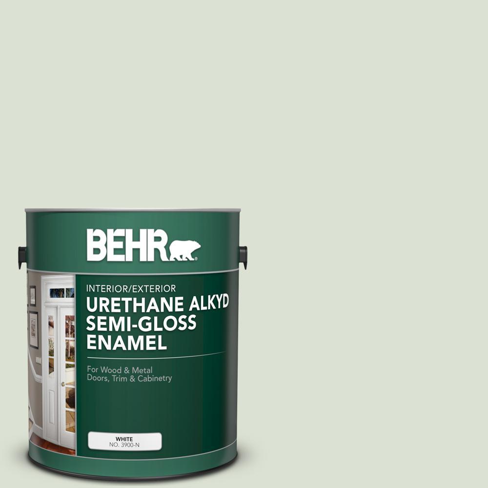 1 gal. #430E-2 Mystical Sea Urethane Alkyd Semi-Gloss Enamel Interior/Exterior Paint
