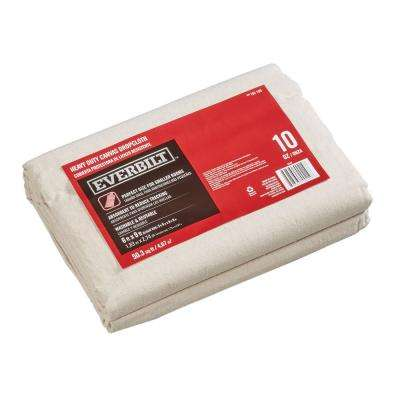 5 ft. 9 in. x 8 ft. 9 in. 10 oz. Canvas Drop Cloth