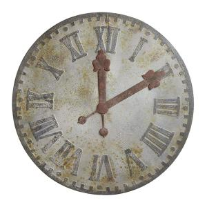 Collected Notions Gray Metal Decorative Wall Clock