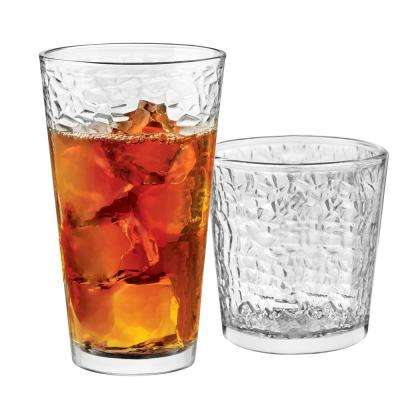 Frost 16-Piece Clear Glass Drinkware Set