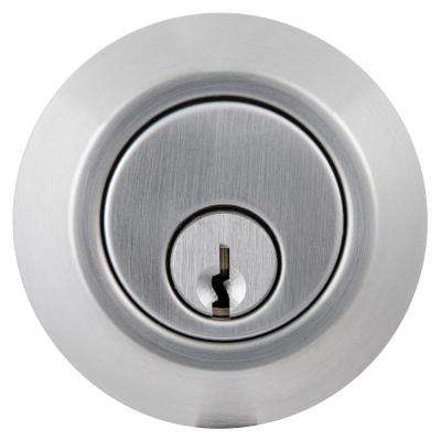 Commercial 2-3/4 in. Single Cylinder Satin Chrome Heavy-Duty Industrial Deadbolt
