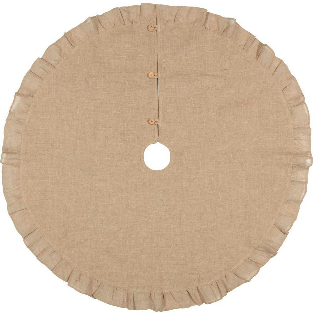 a74978efd VHC Brands 48 in. Jute Burlap Natural Tan Holiday Rustic and Lodge ...