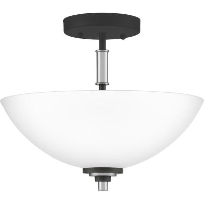 Conrad 2-Light Brushed Nickel Semi-Flush Mount