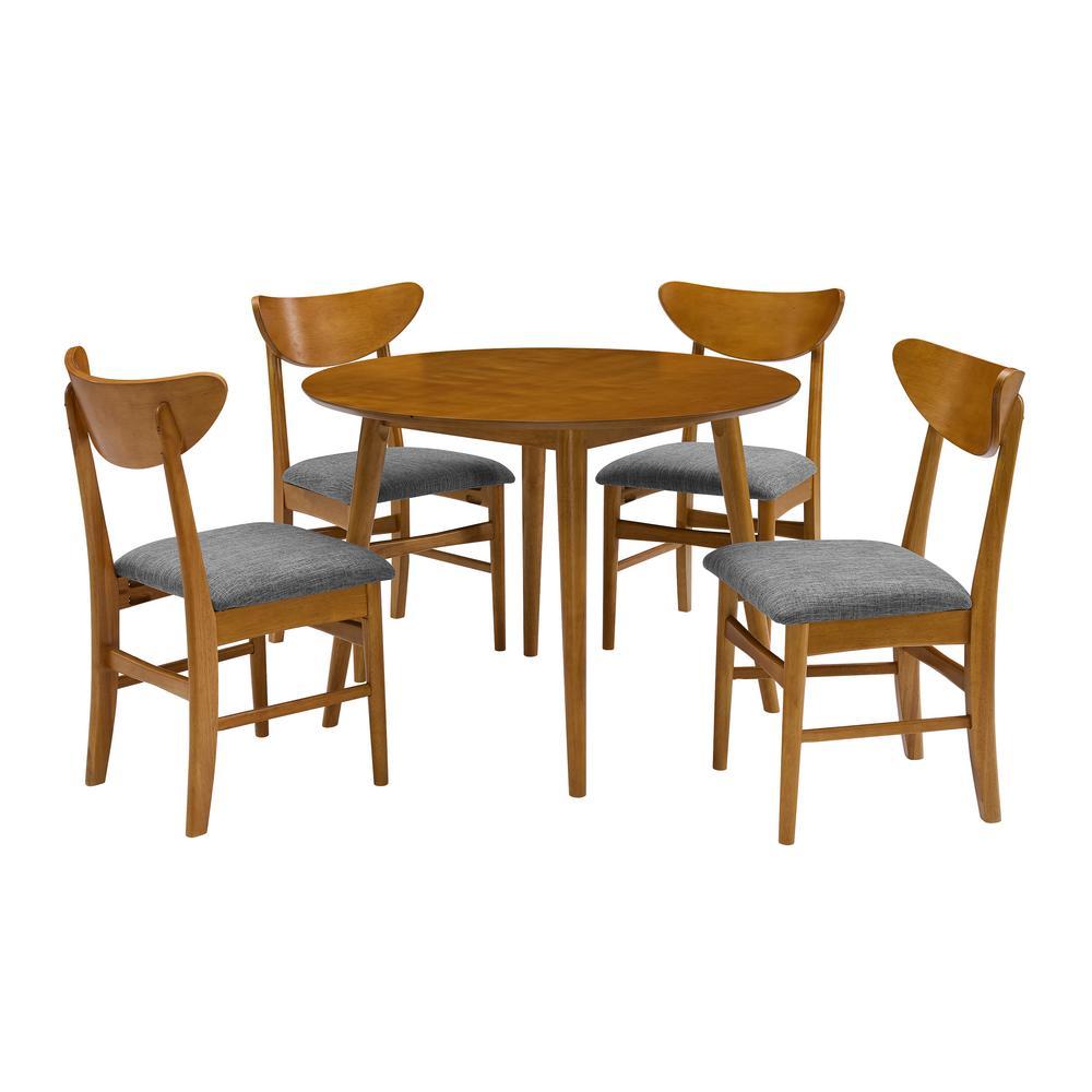 Landon Acorn Round Dining Set (5-Piece)