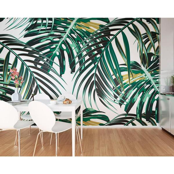 Ohpopsi Tropical Leaves Wall Mural Wals0211 The Home Depot Jungle seamless print tropical flowers hibiscus stock illustration 217101025. tropical leaves wall mural