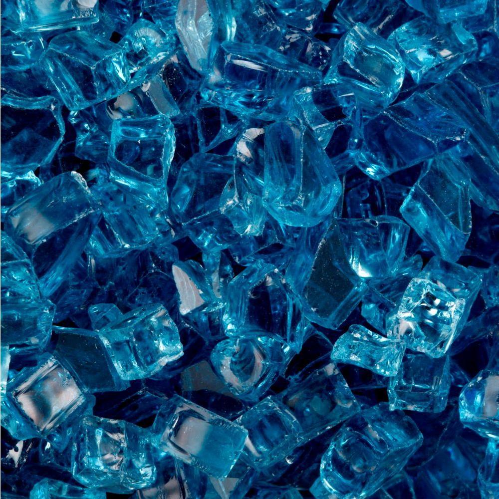 FireCrystals 50 lbs. Arctic Blue Fire Glass Value Pak
