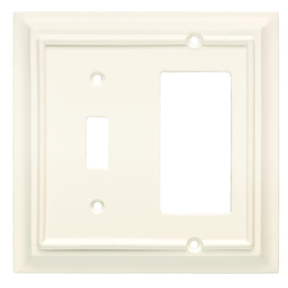 Hampton Bay Architectural Wood Decorative Switch And Rocker Plate White