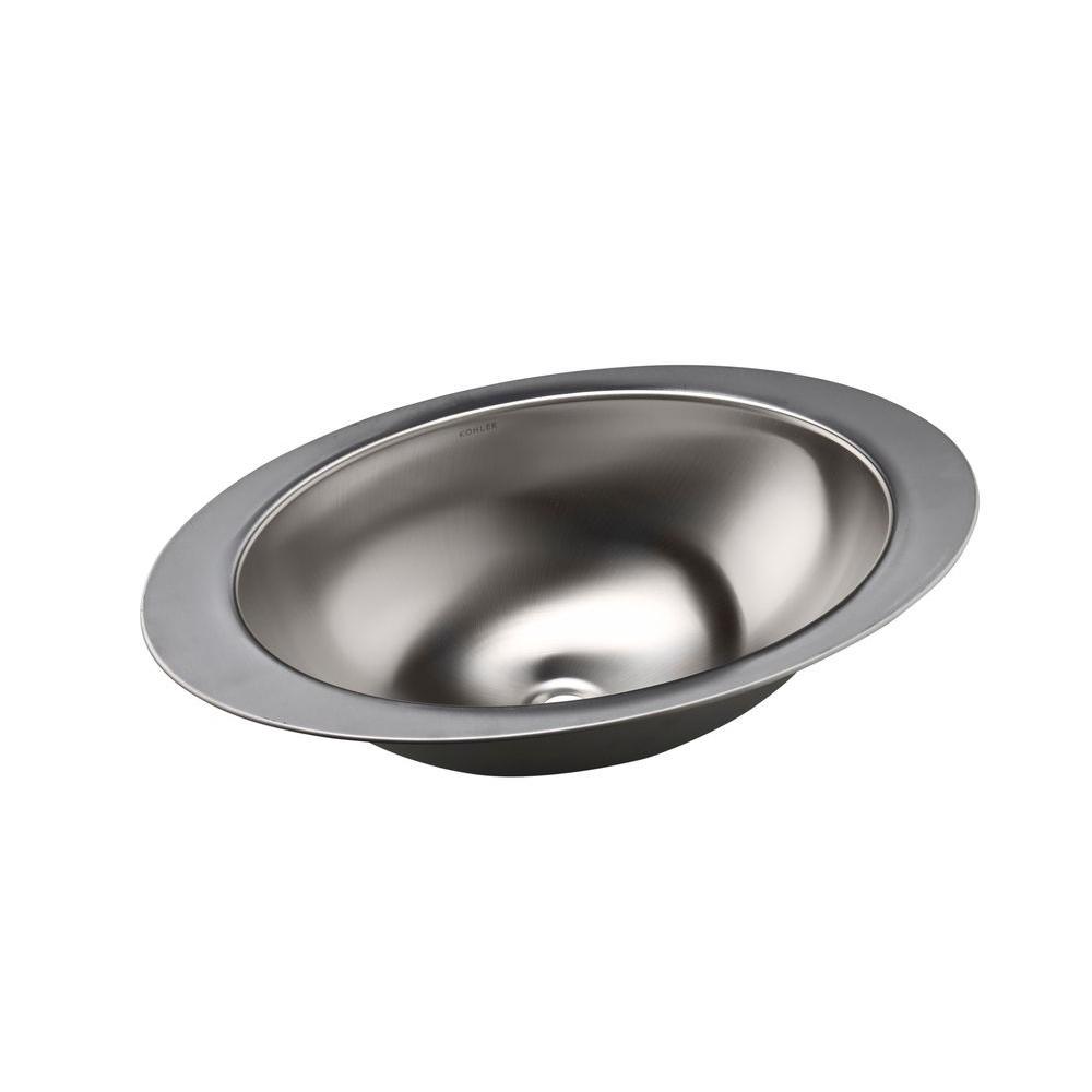 Kohler Rhythm Undermount Stainless Steal Bathroom Sink In