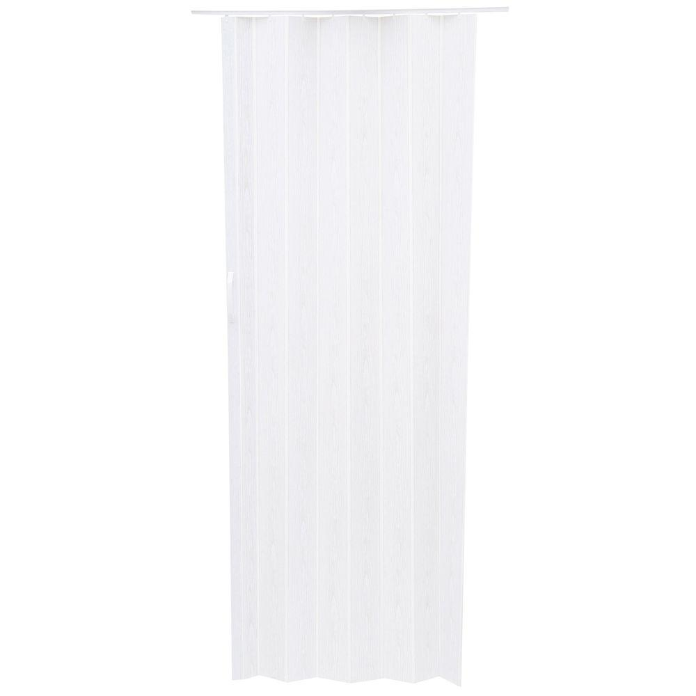 Spectrum Spectrum 36 in. x 80 in. Via Vinyl White-Mist Accordion Door, White Mist