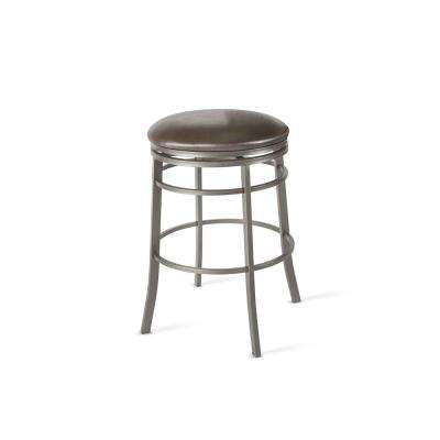 30 in. Milo Gray Backless Swivel Bar Stool