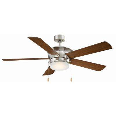 Capital 52 in. LED Indoor Brushed Nickel Ceiling Fan