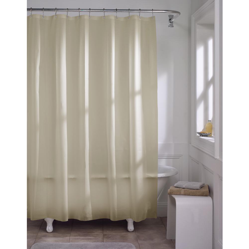 Premium Beige Super Heavyweight 10 Gauge Shower Curtain Liner