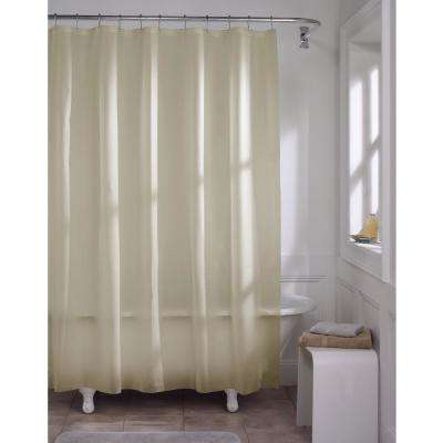 70 in. x 72 in. Premium Beige Super Heavyweight 10-Gauge Shower Curtain Liner
